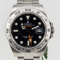 Rolex Explorer II  Steel Black Dial Bezel 42mm 216570 NEW