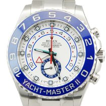 Rolex Yacht-Master II SS White Dial w/ Box+Papers-116680