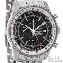 Breitling Navitimer World GMT Stainless Steel 46mm Men's...