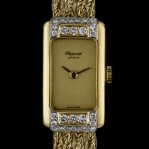 ショパール (Chopard) 18k Y/G Champagne Dial Diamond Bezel Vintage...