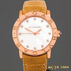 Bulgari 18K Rose Gold MOP DIAL & DIAMONDS BOX & PAPERS...