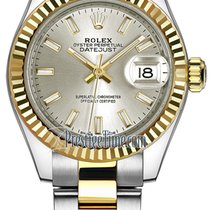 롤렉스 (Rolex) Lady Datejust 28mm Stainless Steel and Yellow Gold...