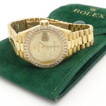 Rolex 69178 President Datejust 26mm Ladies 18K Gold Diamond...