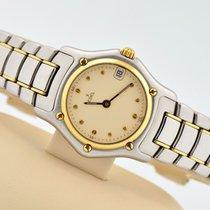 Ebel 1911 18k Gold & Stainless Steel Cream Dial Swiss...