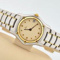 Ebel 1911 18k Gold & Stainless Steel Cream Dial Swiss...