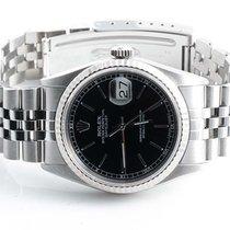 Rolex Mens 16234 Datejust - Black Stick Marker Dial - Jubilee...