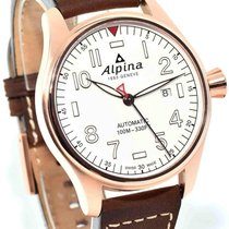 Alpina Startimer Pilot Automatic - White Dial Men's Watch...