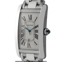 Cartier Tank Collection Tank Americaine 18k White Gold Large 27mm