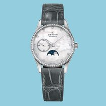Zenith ELITE ULTRA THIN LADY MOONPHASE 33 MM Stahl Index Dia...