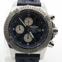 Breitling Super Avenger Chrono A13370 Blue Dial Automatic Mens...