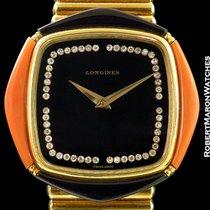 Longines Onyx Coral 18k Watch 18k Rouleaux Bullet Bracelet