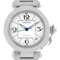 Cartier Pasha C Medium Stainless Steel Bracelet Date Watch...