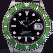 Ρολεξ (Rolex) Submariner date green bezel Mark 1 Fat Four full...