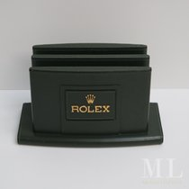 Rolex portacataloghi holder display green leather stand magazine