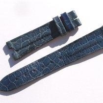 Zenith Croco Band Armband Blau Blue 17 Mm Für Dornschliesse...