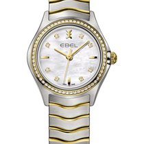 Ebel Wave  Lady 30mm Brillant Bicolor Stahl/Gold Mother of Pearl