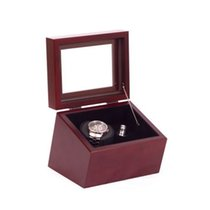 American Chest The Brigadier Single Watch Winder; Glass-topped...