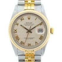 Rolex Datejust Men's 36mm Cream Dial Stainless Steel And...