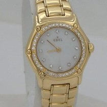 Ebel Ladies Ebel Mini 18k Yellow Gold 3/4ct Diamond Mother Of...