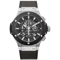 Hublot Big Bang Aero Bang Steel Ceramic Chronograph Alligator...