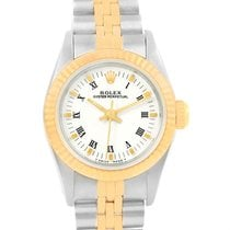 Rolex Oyster Perpetual White Dial Steel Yellow Gold Ladies...