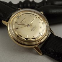 Longines Conquest deluxe 18kt 9025 7 pie pan 291 Singer