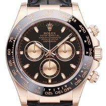 Rolex Daytona Ref.116515LN Schwarzes Zifferblatt / Lederband