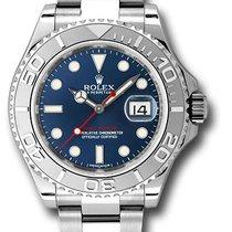 Rolex 116622 bl Yacht-Master Steel and Platinum Bezel