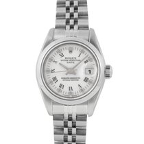 Rolex Ladies Date in Steel with White Dial, Ref: 69160