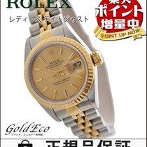 ロレックス (Rolex) 【超美品】ROLEX【ロレックス】 デイトジャスト レディース腕時計【中古】 ゴールド文字盤...