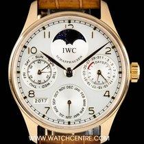 IWC 18k R/G Portuguese Perpetual Calendar Moonphase B&P...
