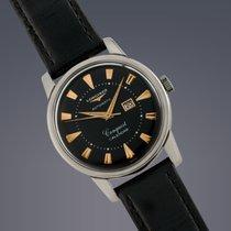 Longines Conquest Calendar steel automatic watch