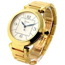 Cartier W30186H9 Pasha 42mm Yellow Gold on Bracelet - Silver Dial