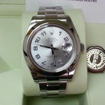 Rolex Datejust II Rhodium Blue Arabic Dial Smooth Bezel 41mm...