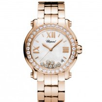 Chopard 277481-5002Happy Sport 36mm Gold Diamonds Pearl Lady