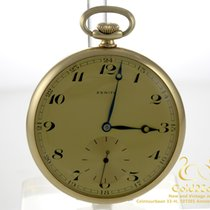 Zenith 14K Gold Pocket Watch with Golden Watch Chain