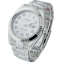 Rolex Unworn 116334 Datejust II 41mm with White Gold Fluted...