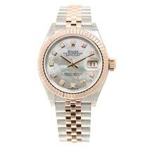 劳力士  (Rolex) Lady Datejust 18k Rose Gold And Steel White...