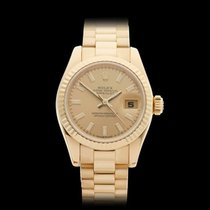 Rolex Datejust 18k Yellow Gold Ladies 179178 - W3803