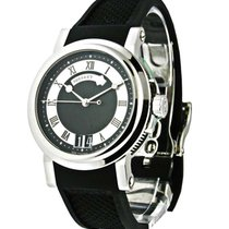 Breguet 5817st/92/5V8 Marine II Big Date in Steel - on Black...