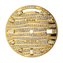 Rolex Day-Date 41mm Gold Wave Design Diamond Set Custom Dial