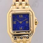 Cartier Panthere 18K Gold Luxusuhr 750er Lapis Stone Dial Top