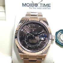勞力士 (Rolex) Sky-Dweller 18K Everose Gold chocolate choco dial...