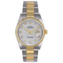 Rolex Datejust Men's Steel Watch 16233 White Jubilee Dial