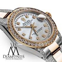 Rolex Ladies 26mm Rolex Oyster Perpetual Datejust Custom White...