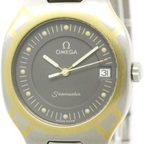 Omega Polished Omega Seamaster Polaris 18k Gold Steel Quartz...