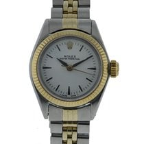 Rolex Oyster Perpetual 2 Tone Stainless Steel 14kt Yellow Gold...