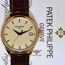 Patek Philippe Mens Calatrava 18k Gold Automatic Watch...