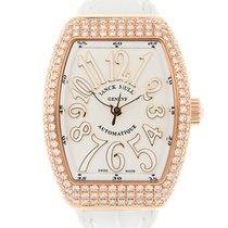 Franck Muller Vanguard 18 K Rose Gold With Diamonds White...