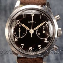 Recta Original 1940`s Spillmann Case 38mm Waterproof Steel...